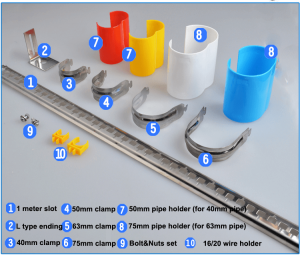 stainless steel copper pipe hangers clamps components